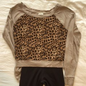 Pink Cheetah print long sleeve shirt